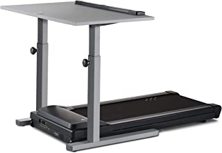 LifeSpan TR1200-DT5 Treadmill Desk Silver Frame - 48 inch - Gray Desktop