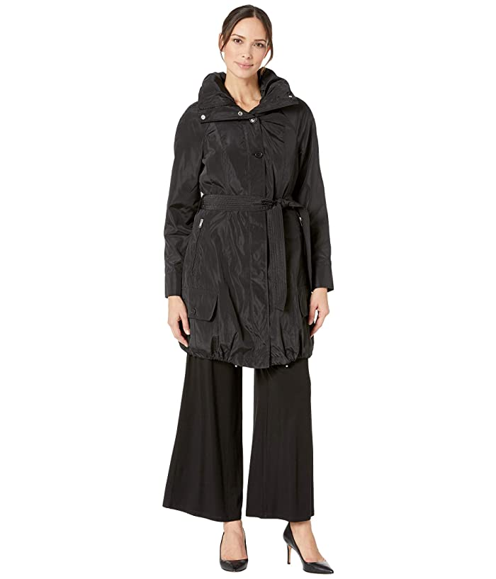 Marc New York by Andrew Marc Navarre Bubble Trench Coat w/ Hood (Black) Women