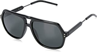 Polaroid Men's PLD 2035/S Y2 CVS 58 Sunglasses, Black Ruthen/Grey Pz