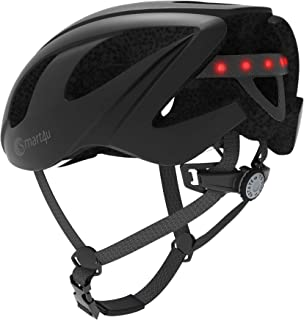 smart4u Smart Helmet with LED taillight & Turn Indicators, Connects via Bluetooth, Certified Comfortable Cycling Helmet.