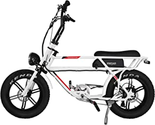 Addmotor MOTAN Electric Bikes for Adults,750W Motor 20 Inch Fat Tires Battery Powered Assit Bicycles, 48V 14.5Ah Lithium Battery M-70 Platinum Cruiser Retro Ebike - coolthings.us