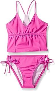 Reef Big Girls Cove Solids High Neck Halter Swimsuit Set 7 Pink