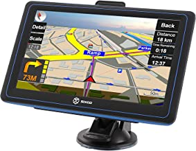 SIXGO GPS Navigation for Car Truck GPS 7 Inch Touch Screen Vehicle GPS Navigation System with POI Speed Camera Warning Voice Guidance Lane Free Lifetime Map Updates