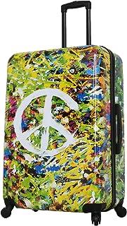 Mia Toro Prado-Peace Love Happiness 28 Inch Spinner Luggage, Peace Love H.Iness (Multi) - M1518-28IN-LOVNN