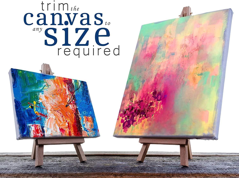 Choose Your Size 1ft x 120 VViViD Double Primed Cotton Canvas Wide Roll