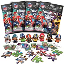 TeenyMates Party Animal 2019-20 NFL Series 8 Color Rush Mini Figures Blind Bags Gift Set Party Bundle - 4 Pack
