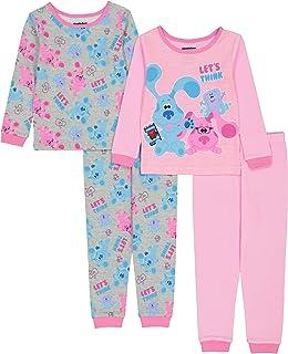 Nickelodeon Girls' Blues Clues Snug Fit Cotton Pajamas