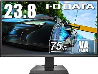 I-O DATA ゲーミングモニター 23.8型 75Hz 4ms(GTG) VAパネル フレームレス PS4 HDMI×2 DP×1 LCD-DF241SXVB
