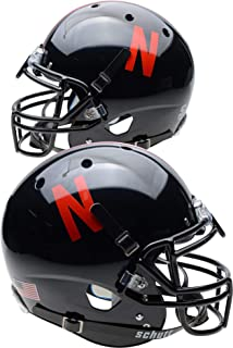 Nebraska Cornhuskers Schutt Black Authentic Football Helmet - College Authentic Helmets