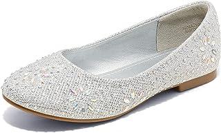 DREAM PAIRS Nina-100 Girls Dress Shoes Classic Ballet Flats
