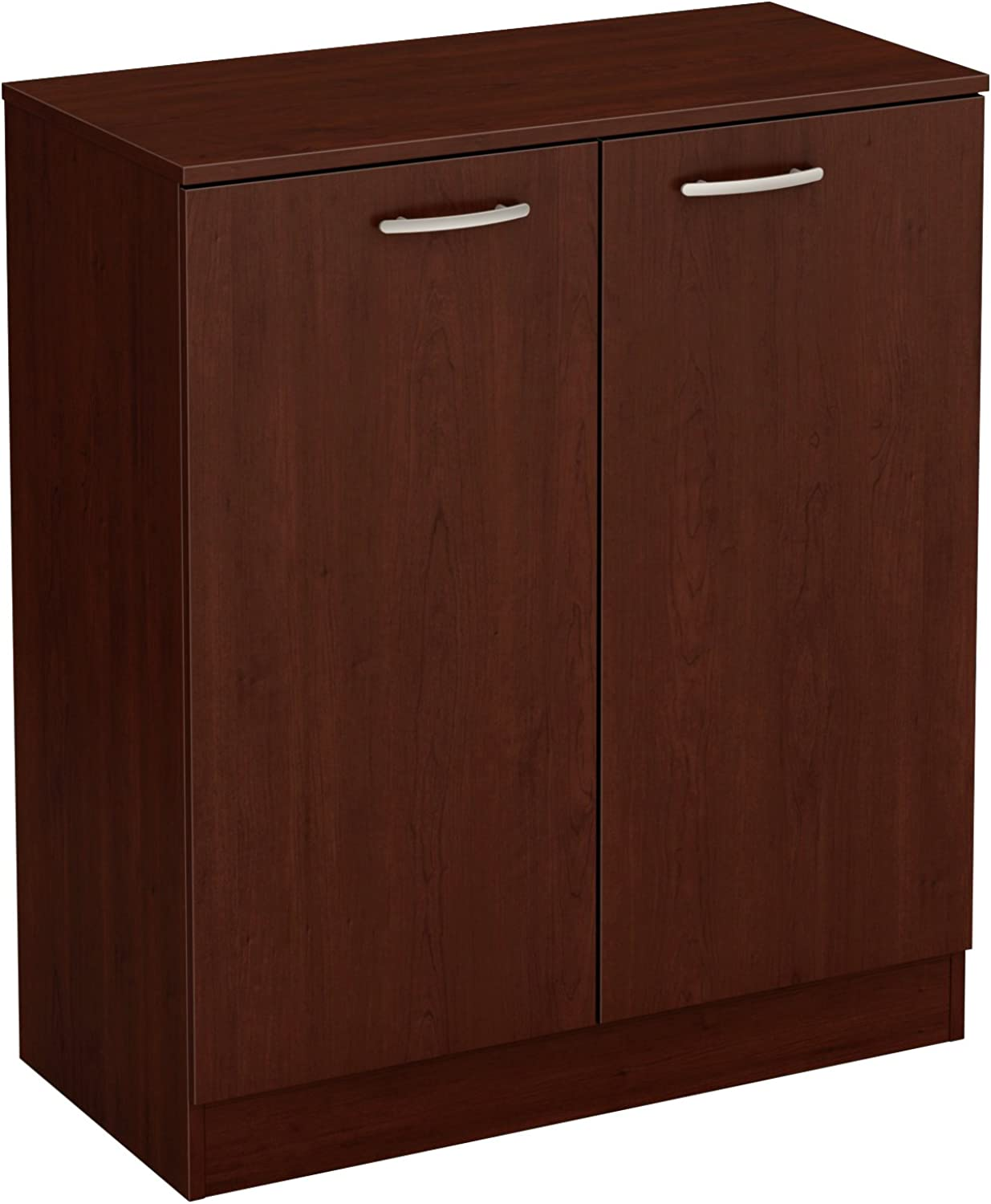 South Shore Axess 2-Door Storage Cabinet, Royal Cherry