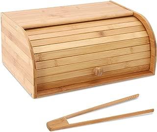 Bamboo Bread Box Countertop Bread Storage Bread Box Kitchen Food Storage Box Bread Storage