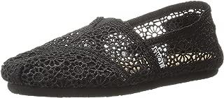 Women's Classics Crochet Espadrille Pumps US5 Black