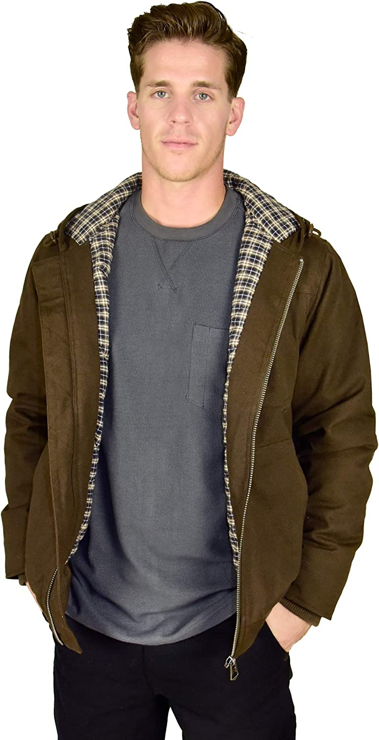 Stanley Workwear Men's Big Size Heavy Duck Canvas Jacket with Flannel Lining