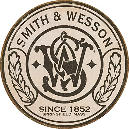 Smith and Wesson US Patent Metal Sign