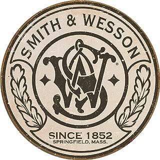 Desperate Enterprises Smith & Wesson - Round Tin Sign, 11.75