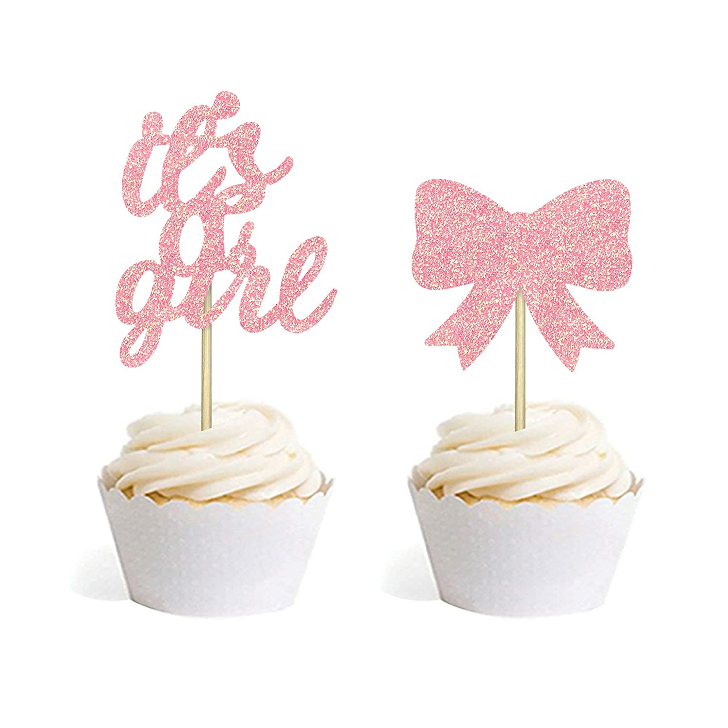 24 PCS Baby Shower Cake Cupcake Party for Toppers Picks A surprise price is realized Decorati Max 88% OFF