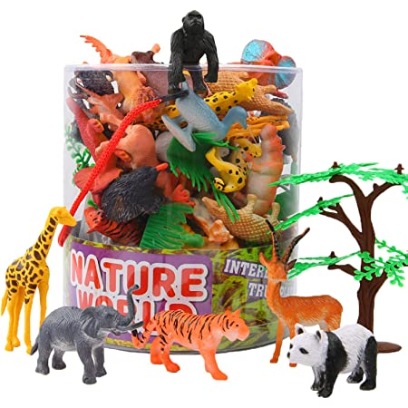 Pack of 6pcs Plastic Wild Animals Toy Model Kids Favorite Zoo Collections