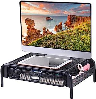 YCOCO Monitor Stand Computer Riser Desk Organizer Stand Desktop Printer Stand for Laptop Computer Storage Shelf & Screen H...