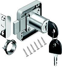 VOLGA kastslot meubelslot cilinder-meubelslot schroefslot met sleutel set voor laden en kasten | staal vernikkeld | doornm...