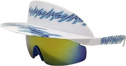 Funny Guy Mugs Polarized Visor Sunglasses- 80s & 90s Retro Sunglasses- Visor Shades