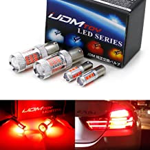 iJDMTOY (2) CANbus Brilliant Red H21W & 7506 LED Replacement Bulbs For 2014-2017 F32/F33/F82 4 Series Rear Turn Signal & Brake Lights Combo