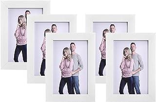 SONGMICS Juego de 5 Marcos de Fotos 10 x 15 cm, Portafotos