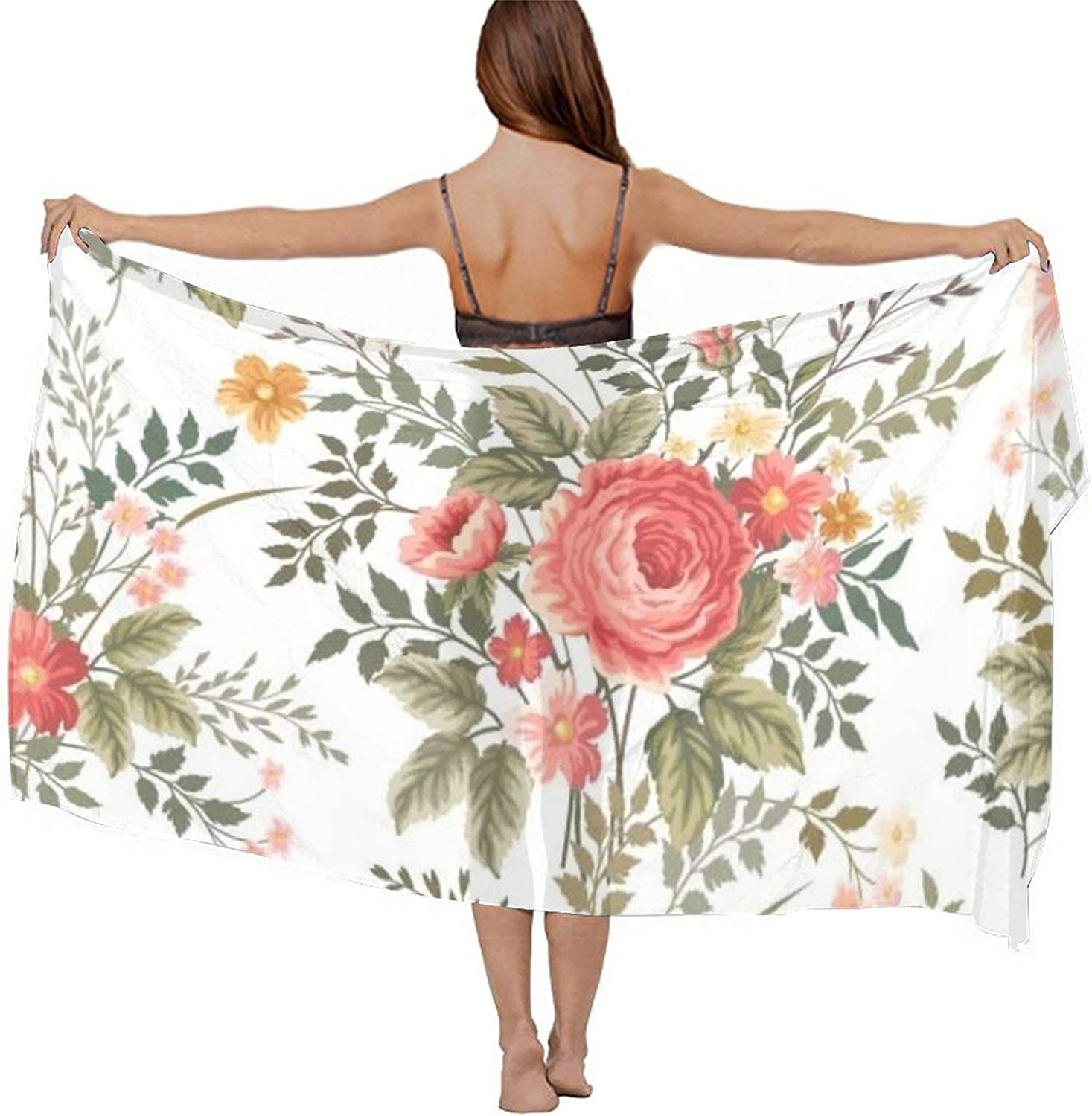 Beach Cover Up Warp Scarf Swimsuit Sarongs Summer Pareos for Park Beach Wedding, Holiday