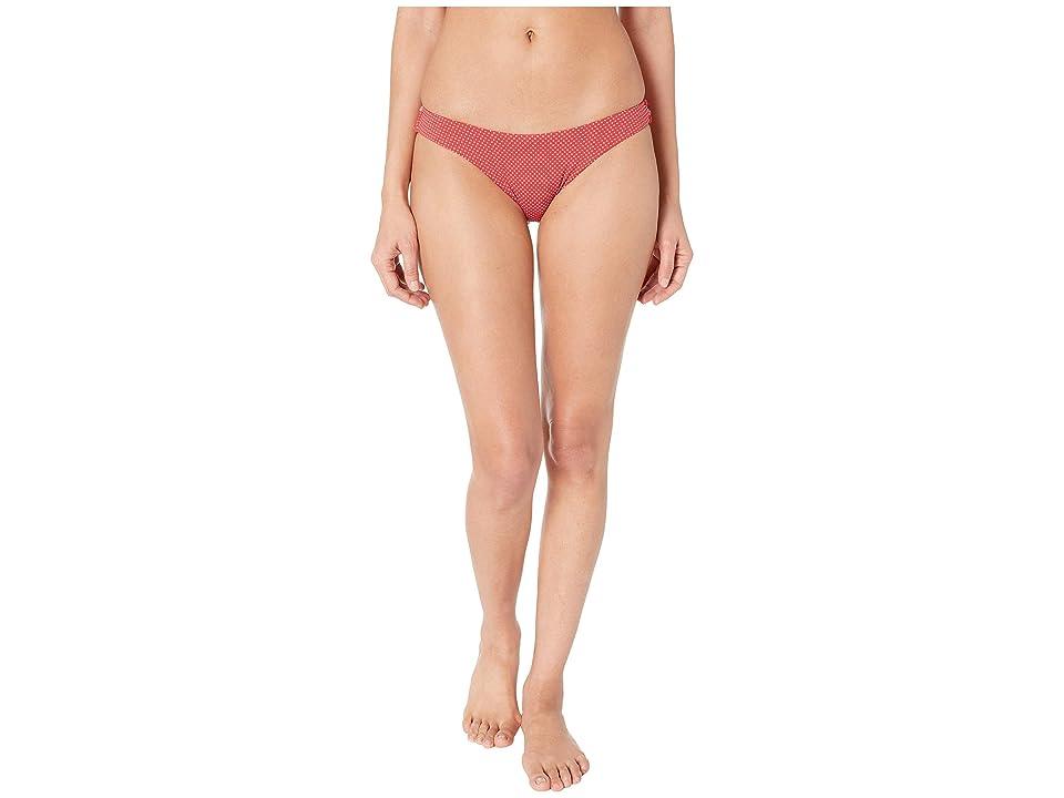 Roxy Print Beach Classics Reversible Regular High Leg Bottoms (American Beauty Polka Dot) Women