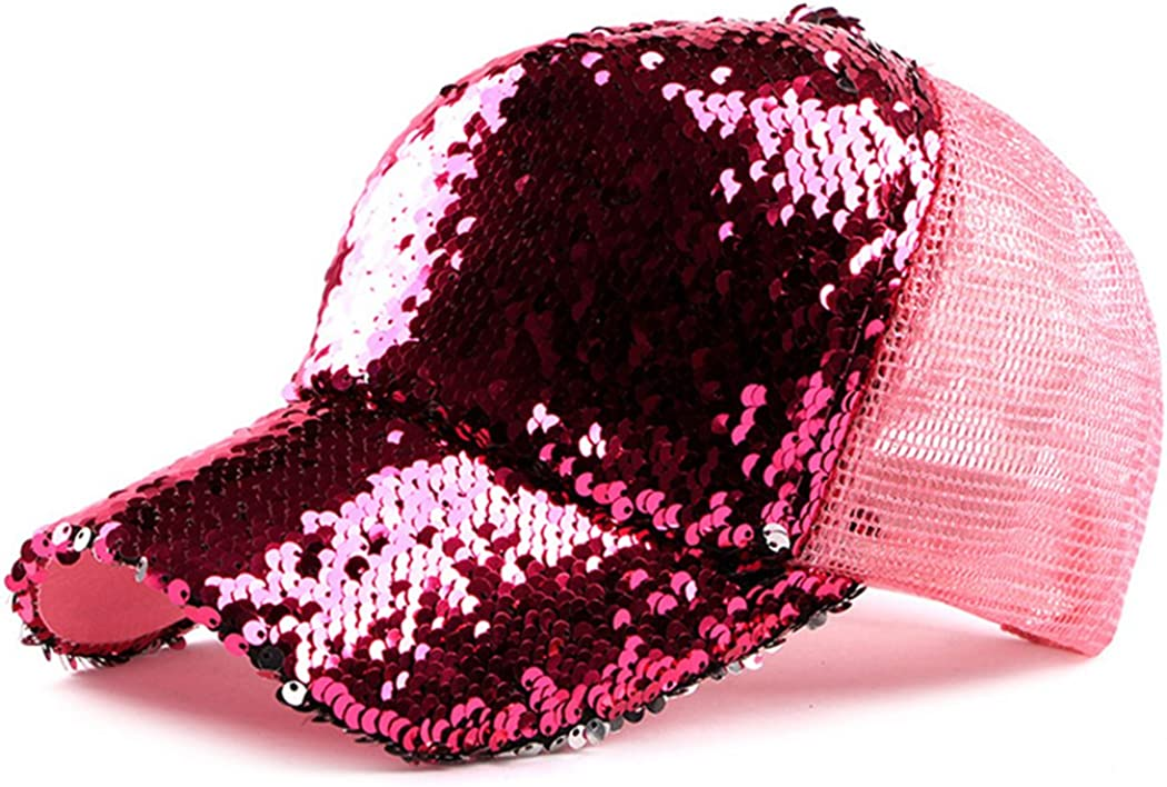 Sequin Hat Magic - Reversible Adjustable Baseball Hat Cap for Womens 56-58cm / 22