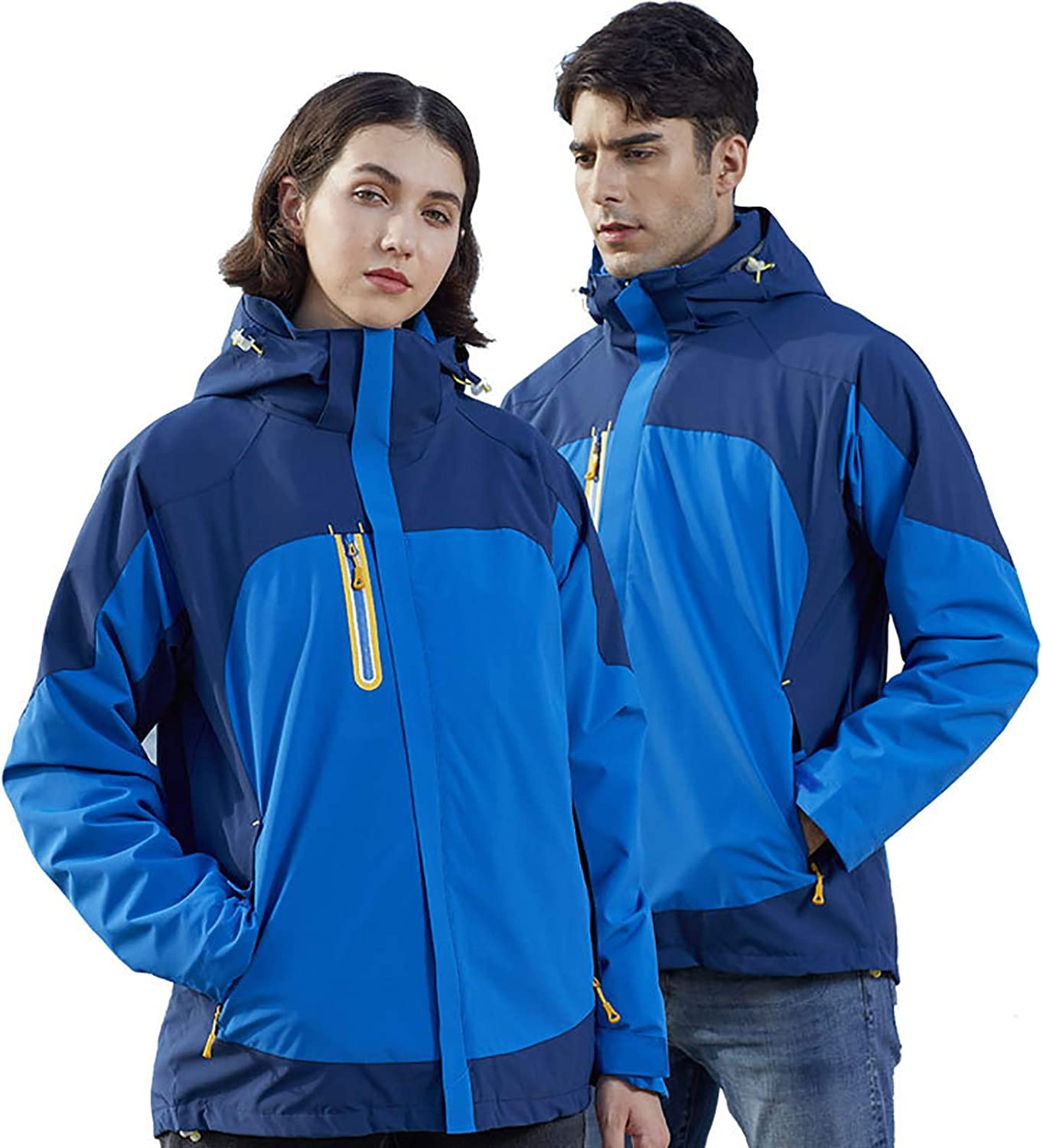Jackets for Unisex, Warm Softshell Fleece Liner, Detachable Hooded Windproof And Waterproof Outerwear