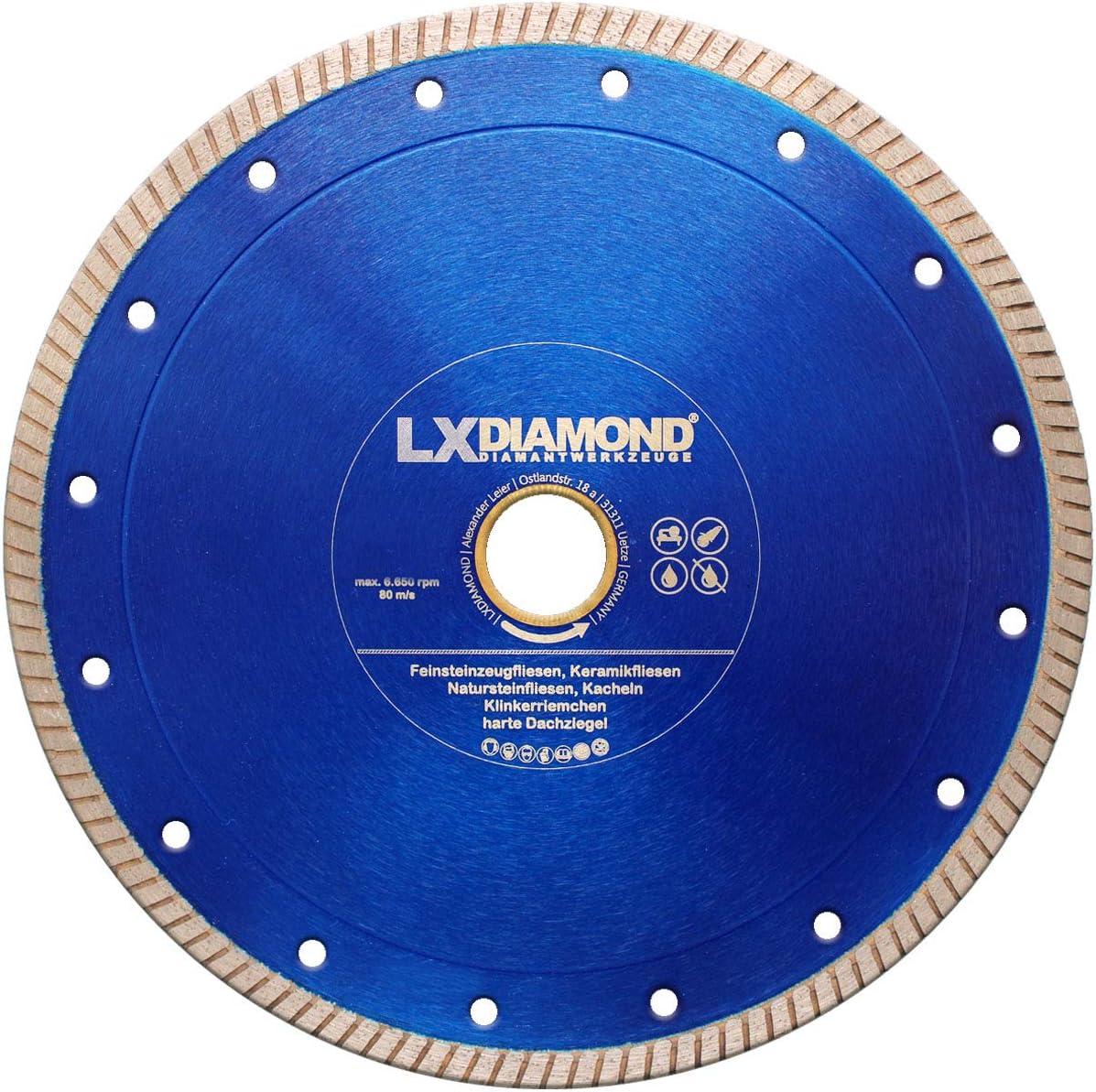 LXDIAMOND Disque /à tron/çonner diamant 115mm x 22,23mm Disque diamant de qualit/é sup/érieure pour carrelage Carrelage de sol en gr/ès c/érame Kreamik Carrelages en pierre naturelle Bandes de 115 mm