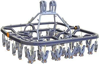 エヌケーグループ販売 組立式 洗濯 物干し ハンガー ブルー 44ピンチ 長く長く使える 引っぱリンガー NSA-37