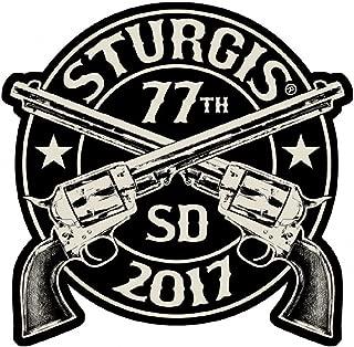 2017 Sturgis Rally 77th Anniversary Crossed Pistols Biker Rally Patch