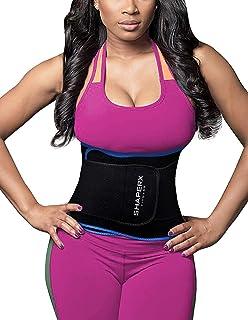 SHAPERX Waist Trimmer Belt - Waist Eraser Sauna Sweat Band Waist Trainer for Weight Loss