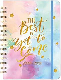 "2020-2021 Planner – Academic Weekly & Monthly Planner, July 2020 - June 2021, 6.3"" x 8.4"", Academic Planner with Twin- Wire Binding, 12 Monthly Tabs, Inner Pocket and Banded"