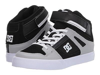 DC Kids Pure High-Top EV (Little Kid/Big Kid) (Black/Grey/Grey) Boys Shoes