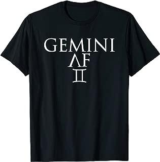 Gemini AF Funny Horoscope Zodiac T-Shirt