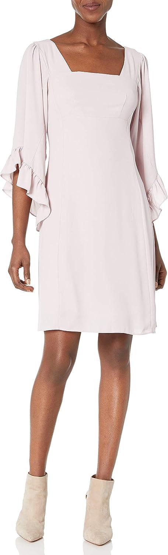 James & Erin Women's Caftan-Sleeve Square-Neck Dress