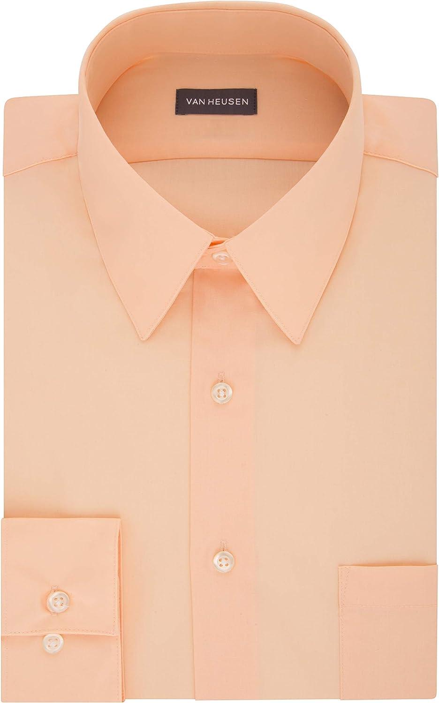 1930s Mens Shirts | Dress Shirts, Polo Shirts, Work Shirts Van Heusen Mens Dress Shirt Fitted Poplin Solid  AT vintagedancer.com