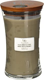 Woodwick Black Amber & Citrus Large Hourglass Candle