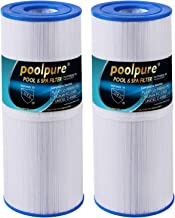 POOLPURE 50 sq. ft. Spa Filter for Hot Tub Replaces Pleatco PRB50-IN, Unicel C-4950, Filbur FC-2390, Dynamic 03FIL1600, Pentair R173434, 5 X 13 Hot Tub Filter, 2 Pack