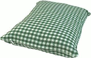 Enstaka kudde grön kontrollerad fylld med tallskivor gjorda av 100% Alperna Zirbenwood 30x20 cm (Karo)