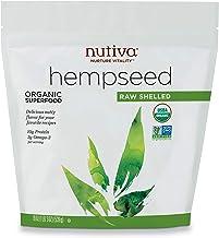 Nutiva Organic, Raw, Shelled Hempseed from non-GMO, Sustainably Farmed Canadian Hemp, 19-Ounces
