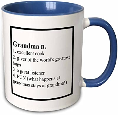 BrooklynMeme Saying–おばあちゃんの定義Saying–マグカップ 11-oz Two-Tone Blue Mug mug_221929_6
