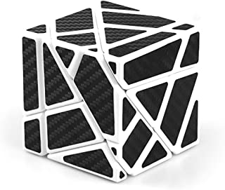 cuberspeed Ghost 3x3 White with Black Sticker Magic Cube 3x3 Ghost White 3x3x3 Speed Cube Black Sticker
