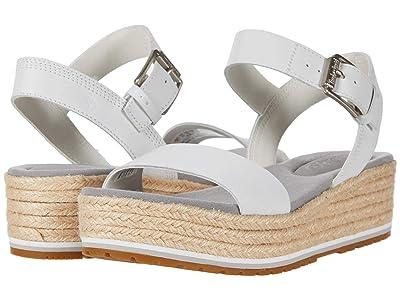 Timberland Santorini Sun Ankle Strap Sandal (White Full Grain) Women