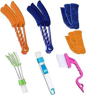TuNan Set of 5 - Window Blind Cleaner Duster Sliding Door Track Brush, Windowsill Sweeper 2-in-1, Hand-held Groove Gap Cle...