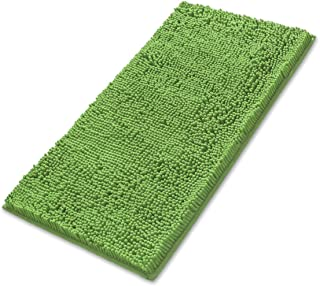 MAYSHINE Non-Slip Bathroom Rug Shag Shower Mat (24x39 Inches) Machine-Washable Bath Mats Water Absorbent Soft Microfibers-Green