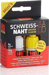 HG POWER GLUE - MINIs - La costura de soldadura de la botella - juego de adhesivos de reparación profesional para plástico ABS cerámica piedra madera goma - adhesivo industrial y granulado (5g + 10g)
